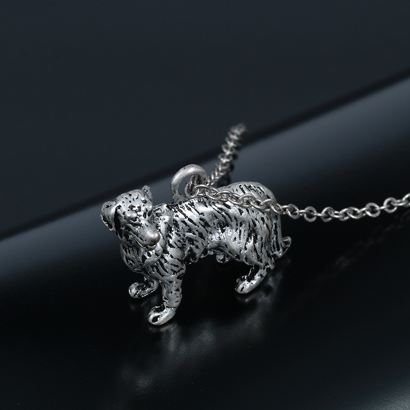 Kinitial 10pcs 3D Realistic Golden Retriever Animal Dog Breed Charm Necklace Women Animal Jewelry Choker Necklaces Pendants