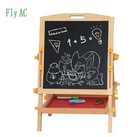 Fly AC Wooden Toys Easel Kids Jungle Animal Magnetic Double sided Drawing Board Painting Blackboard Learning & Education Toys
