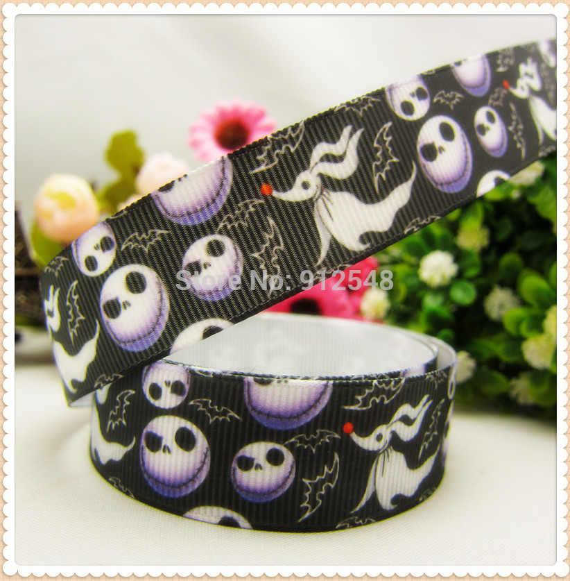 MD8139,22mm <font><b>Halloween</b></font> Series printed <font><b>grosgrain</b></font> <font><b>ribbon</b></font>,Handmade diy hair bands bow <font><b>ribbon</b></font> material image