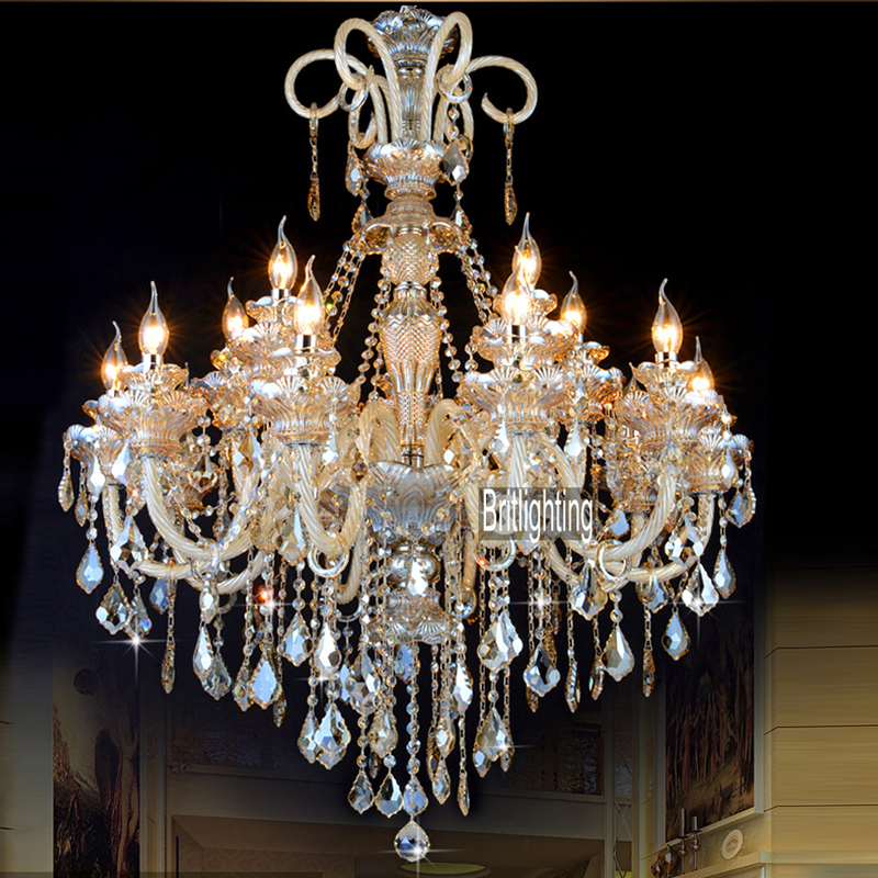 led crystal light fixtures for the living room Wrought Iron Candle Chandeliers Lighting crystal led lamp living room chandelier