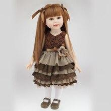 18″ Doll Vinyl Washable & Bathed Play Littler Girl Dolls Light brown hair Light Brown eyes