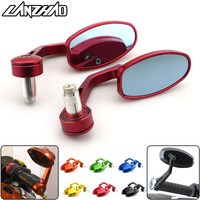 CNC Motorcycle Side Mirrors Handlebar Bar End Rear View Blue Glass Mirror Universal for Honda Grom MSX125 MSX125SF X ADV 750
