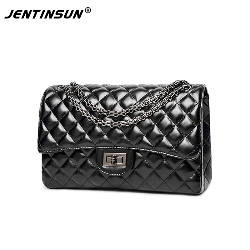 women bag New women's high-end Lingge packet chain bag shoulder diagonal Casual Tote Black Fashion handbag min handbag shoulder diagonal three purpose butterfly spiraea lingge bag mar25