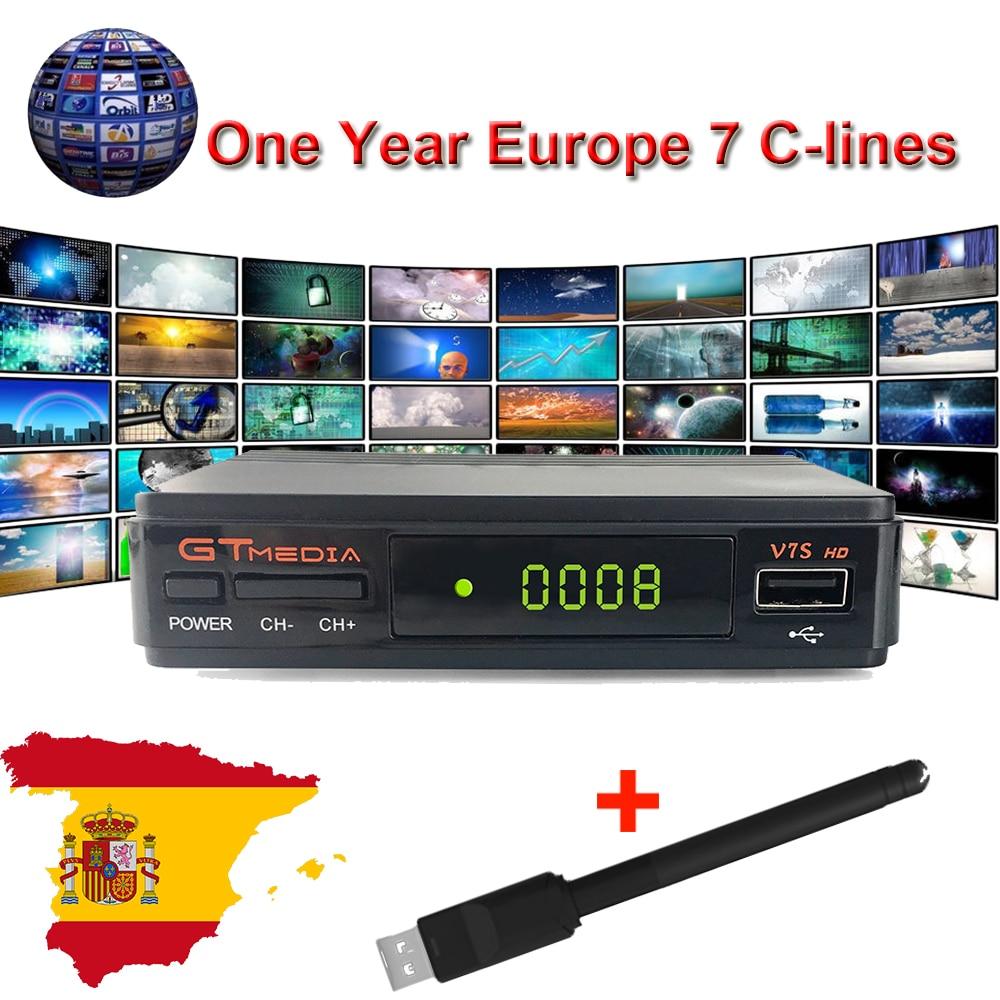 1 Jahr Europa Spanien De Cline Server Genunie Freesat Gtmedia V7s Hd Dvb-s2 Satellite Empfänger Full Hd 1080 P Mit 1 Pc Usb Wifi SorgfäLtig AusgewäHlte Materialien