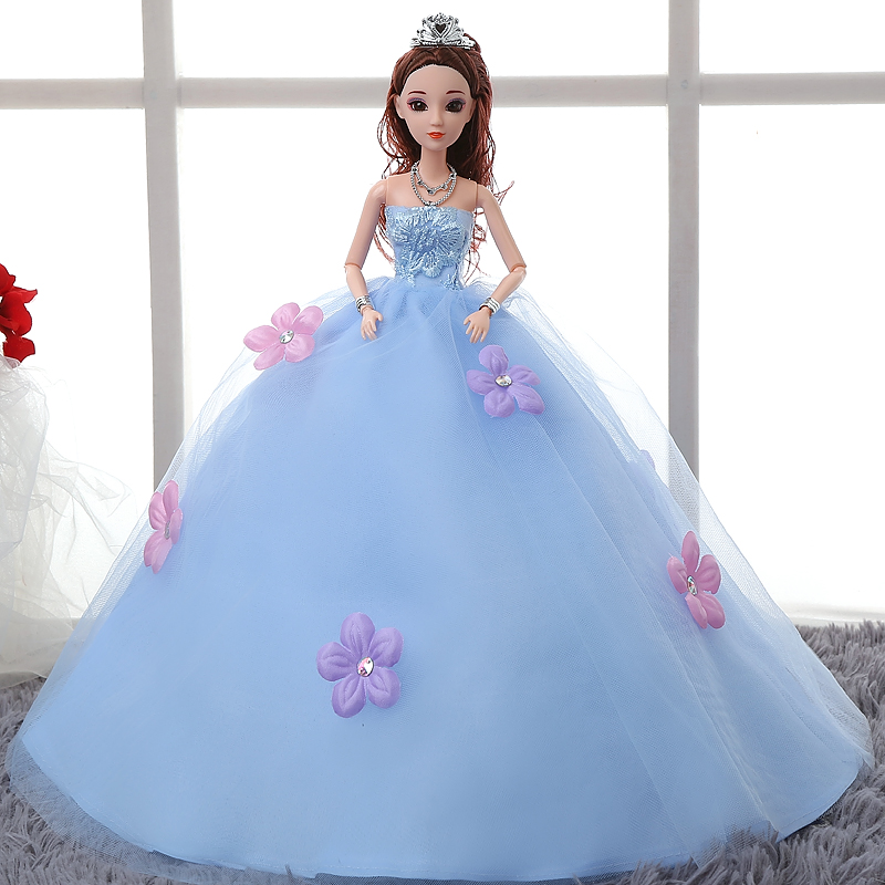 35CM One Pcs Princess Doll Wedding Dress Noble Party Gown For Barbie Fashion Design Outfit Best Gift Girl 3 Colors In Dolls From Toys