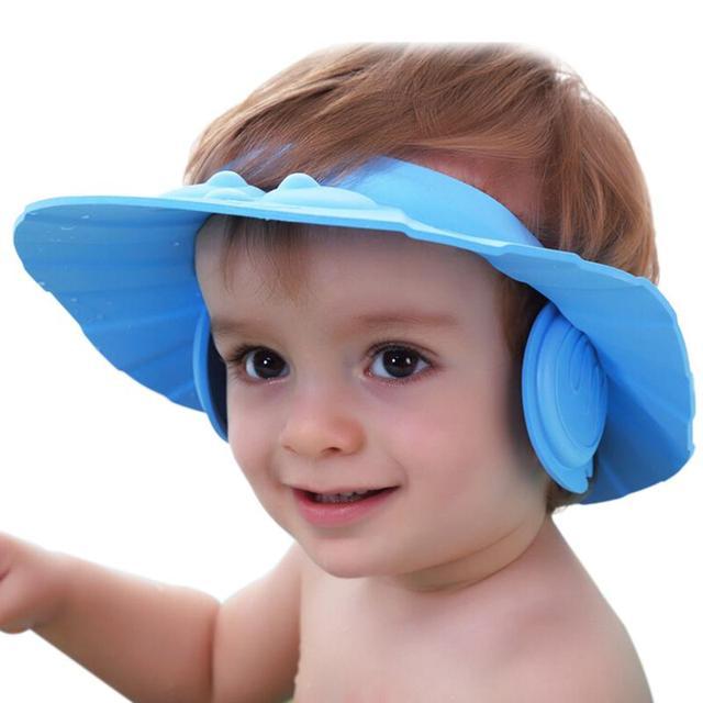 Hot Sale Adjustable EVA Thicken Baby Bath Visor Kids Shower Cap Shampoo Waterproof Hat With