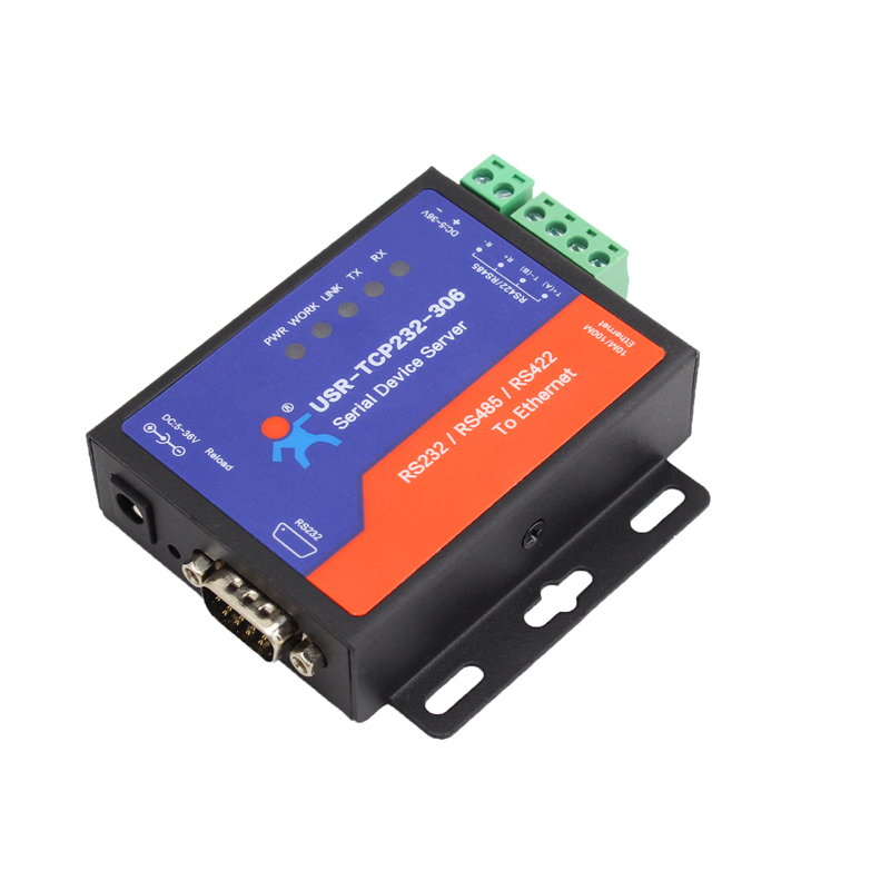 USR-TCP232-306 Serial to TCP IP Converter Module RS232/RS485/RS422 to Ethernet Device Server Support DNS DHCP Buit-in Webpage104 q18040 usriot usr n520 serial to ethernet server tcp ip converter double serial device rs232 rs485 rs422 multi host polling