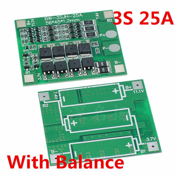 3s 12v large current 150a lithium battery protection plate with balanced mouth inverter dedicated 3S 25A 12V  Lithium Battery Protection Board electric tools sprayer  balanced circuit For Ternary/Cobalt acid/Lithium manganes