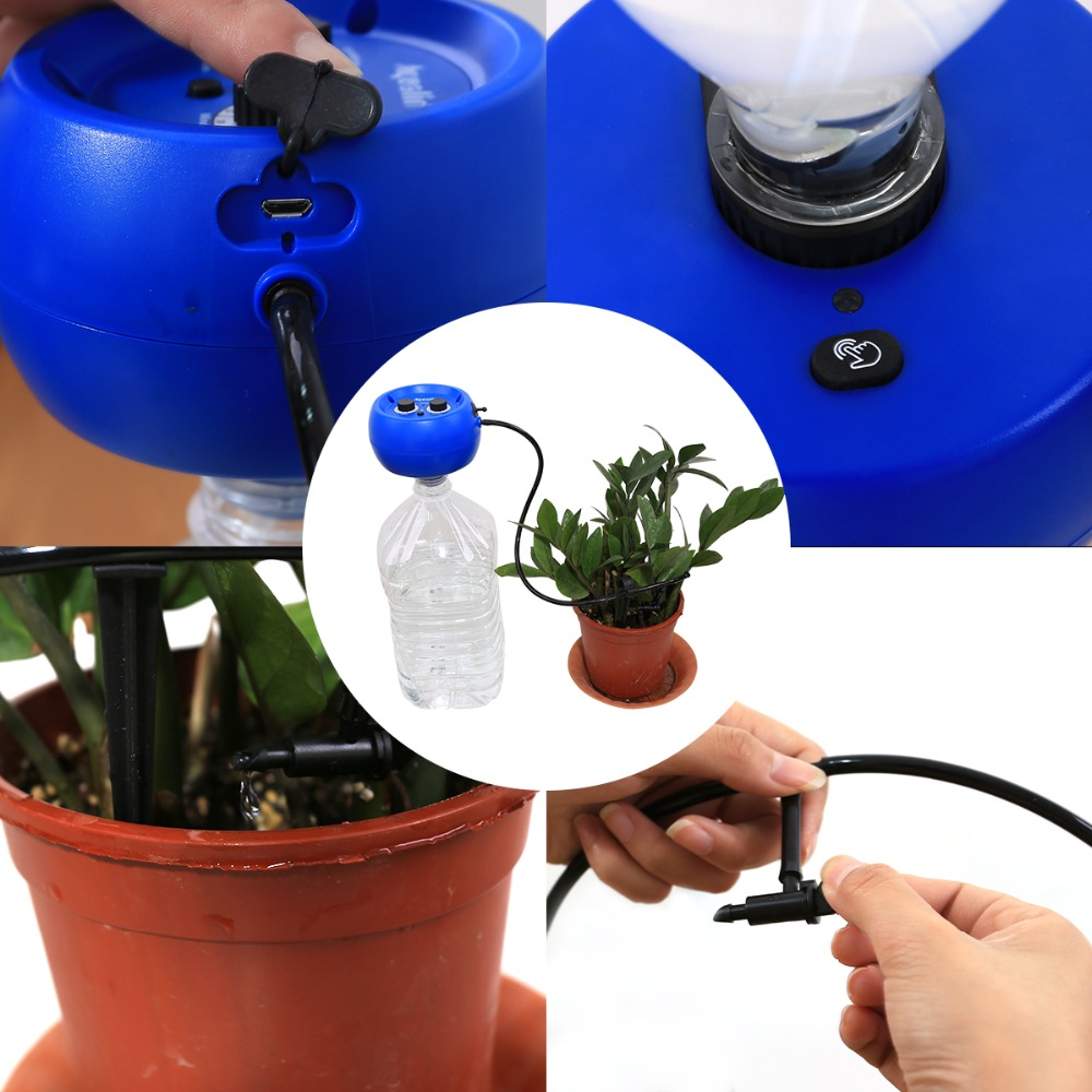 Image 3 - Automatic Drip Irrigation System Pump Controller Watering Kits  with Built in High Quality Membrane Pump Used Indoor#22079Watering  Kits