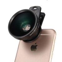 0.45X Groothoeklens 120 Graden + 12.5X Macro Lens Universele professionele HD Clip Op Mobiel Lens Kits voor iPhone voor Samsung