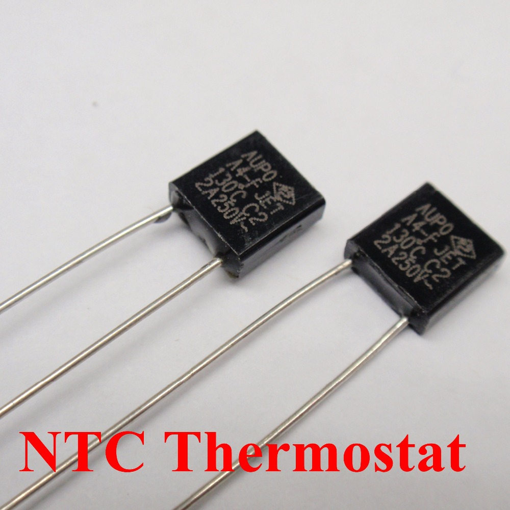 100pcs A3 F 125C 3A 250V degree Thermal Cutoff RH125 Thermal Links Black Square temperature fuse in Fuses from Home Improvement
