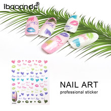 1 Sheet Nail Stickers DIY Manicure Nail Art Design Tools Gel Polish Stamping Cartoon Pattern Wraps Water Transfer Sticker Decals(China)