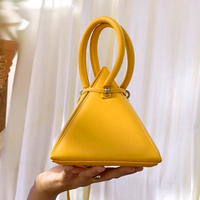 Casual String 3D Triangle Bag for Women Handbags Top handle PU Leather Shoulder Messenger Bags Lady Girls 2019 Ins Bolsa Sac New
