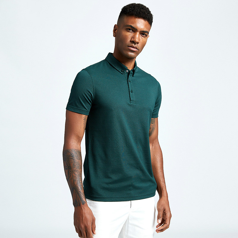 Mens Green   Polo   Shirts Short Sleeve Summer Tee Shirt Boys Breathable Cotton   Polo   Shirt Men Casual   Polo   Male Tops Oversized 3xl