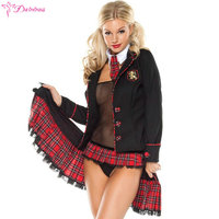 Cosplay Student Sexy Lingerie Hot Erotic Uniforms Sexy Costumes Women Sex Products Sexy Underwear Role Play Plaid Mini Skirt