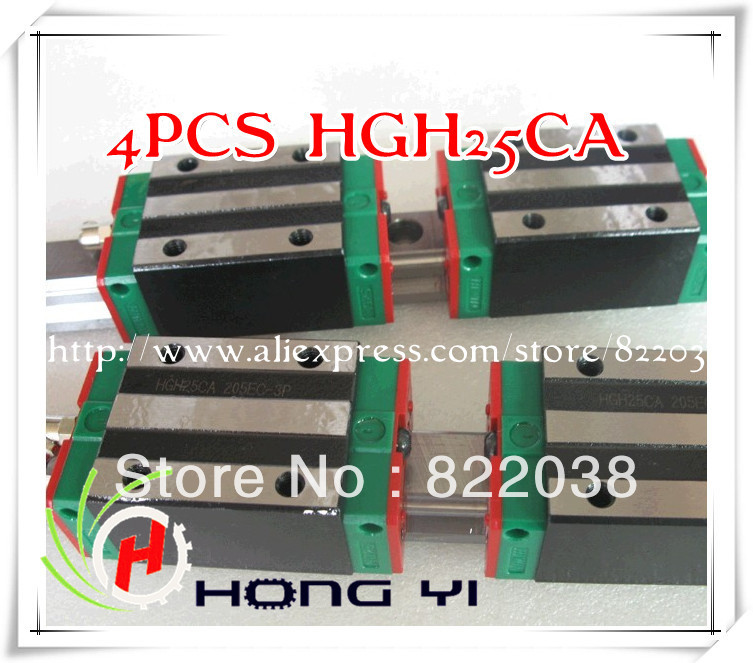 4pcs / lots HIWIN HGH25CA linear blocks for CNC linear guide free shipping to argentina 2 pcs hgr25 3000mm and hgw25c 4pcs hiwin from taiwan linear guide rail
