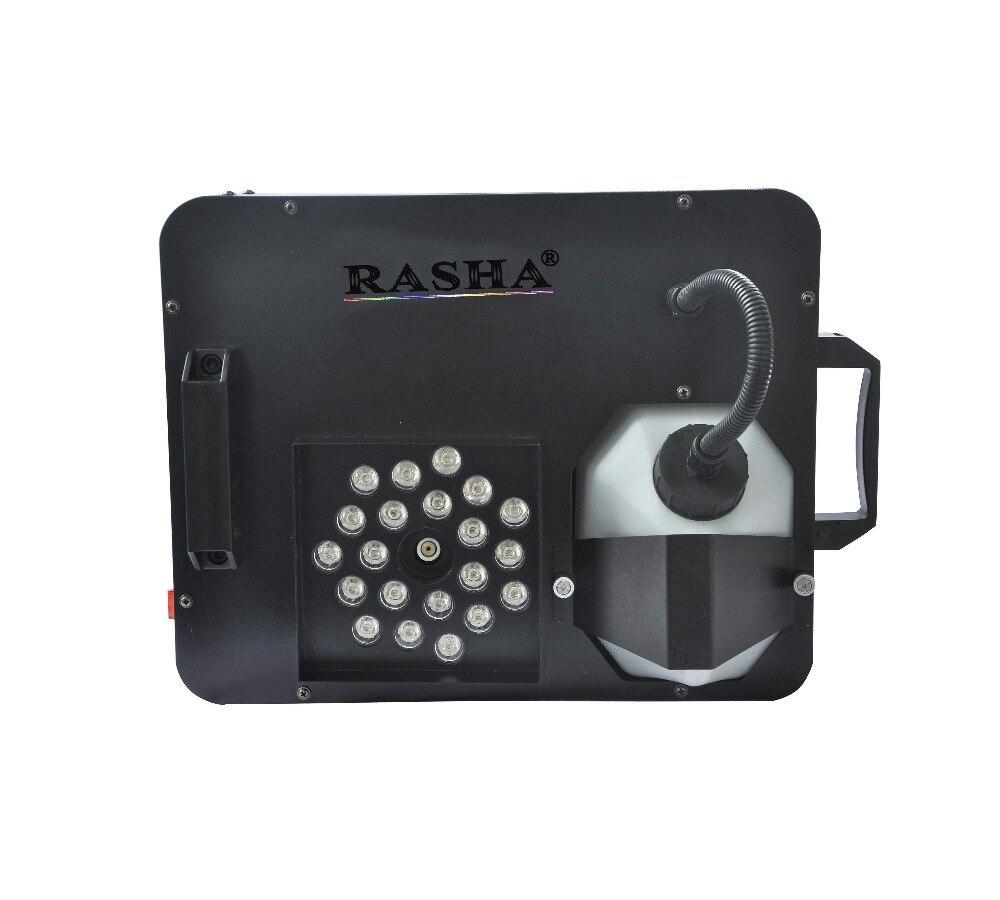 NUOVO 1500 W Digital 21 pz * 3 W RGB LED UP Fog Machine Stage Macchina del fumo Colorato PORTATO Effetti Haze Macchina Per La Cerimonia Nuziale Event partito