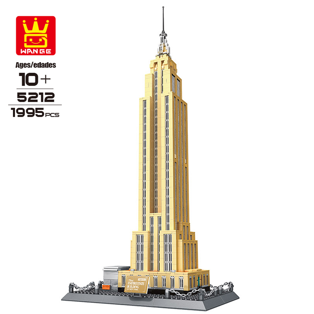 WANGE Blocks DIY Assemble Construction Building Blocks 1995pcs Bricks Empire State Building of New York Toys for Children Gifts