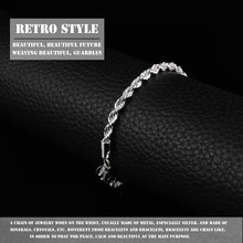 1PCS Brand New Elegant Silver Plated Twisted Rope Design Slim Bracelet Chain for Women Office Lady Wholesale(China)
