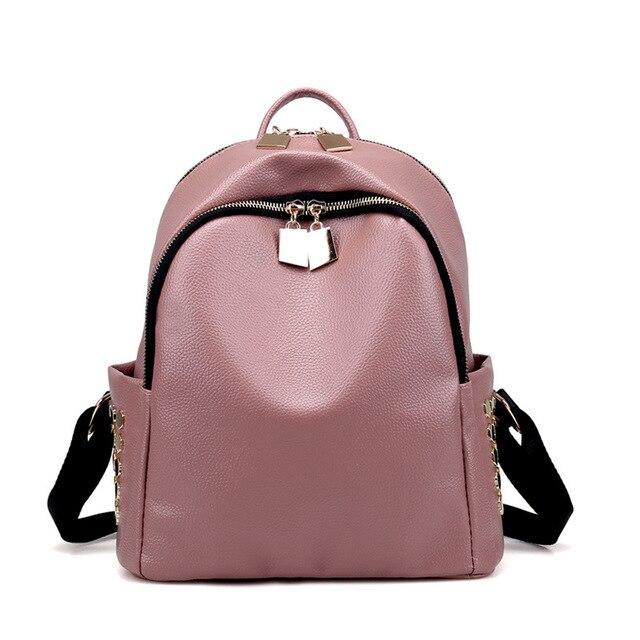 391c913508 Little Women PU Leather Backpack Rivet Casual Lady Shoulder Bag Girls  Teenagers School Bag mochila Work