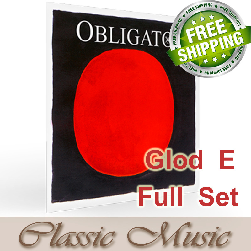 Pirastro Obligato Violin Strings With Gold E Ball End  Full Set (411021),made in Germany,Free shipping , free shipping evah pirazzi violin strings full set ball end made in germany for 4 4
