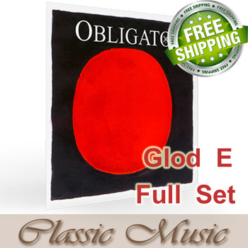 Pirastro Obligato Violin Strings With Gold E Ball End  Full Set (411021),made in Germany,Free shipping ,