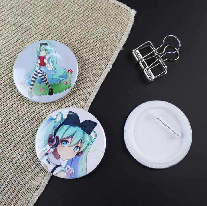 5 pièces Kawaii Hatsune Miku Cosplay Badge Vocaloid Rin Len broche broche Collection Badge pour sac à dos vêtements jouets