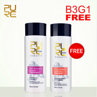 Buy 3Pcs get 1pcs free Brazilian chocolate keratin treatment 5% Formaldehyde 100ml and purifying Shampoo straighten hair