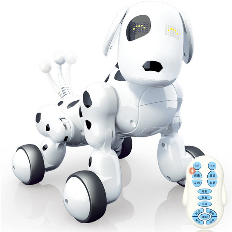 RC Smart Robot Dog Sing Dance Walking Talking Dialogue RC Pet Toy Children Kids Gift Presents intelligent wireless remote control robot dog kids dancing walking dog