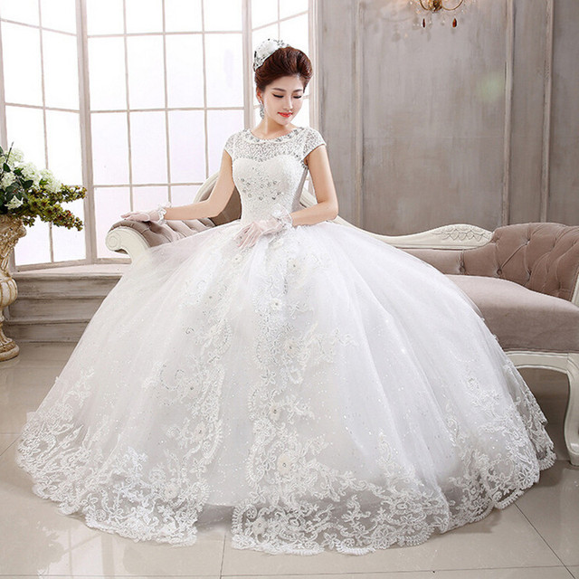 Free shipping 2015 new white high quality wedding dress princess Vestidos De Novia fashion wedding gown HS410