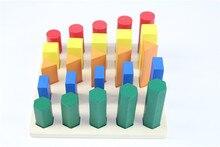 Juguete del bebé Juguete De Madera Montessori Geometría Cilindro de Formación Preescolar Educación de La Primera Infancia Juguetes Para Niños Brinquedos juguetes