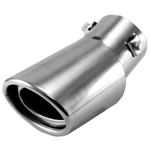 Universal Drop Down Car Exhaust Tail Pipe Silencer Muffler Tip (Silver)