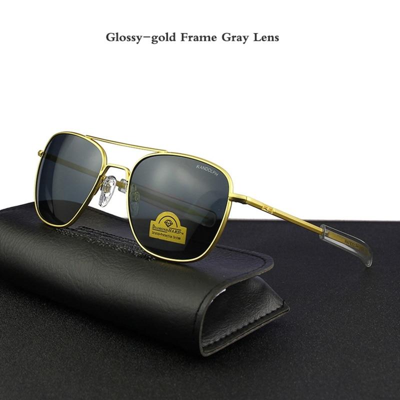 Glossy-gold Frame Gray Lens