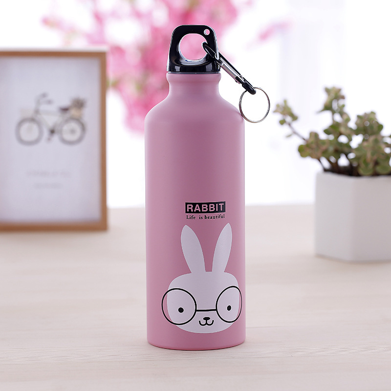 500 мл Милая бутылка для воды милые животные на открытом воздухе портативная Спортивная велосипедная походная велосипедная школьная детская бутылка для воды - Цвет: show as photo
