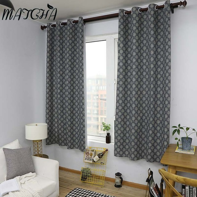 US $21.67 |Match Store Pastoral Plant Printed Curtains Living Room Bedroom  Window Curtain Grommet top Curtain Home Decoration -in Curtains from Home &  ...