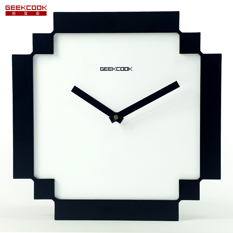 Black White Pixel Style Wooden Wall Clock Home Decor Kids Silent 12 In Clocks From Garden On Aliexpress Alibaba Group