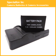 Eeyrnduy 1x LP-E12 battery + 1x charger For Canon EOS M M2 100D Kiss X7 Insurgent SL1 digital digital camera battery LPE12