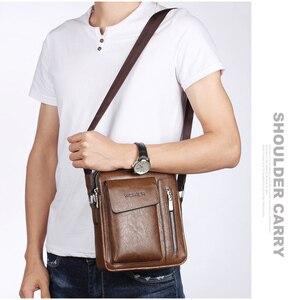 Image 3 - ขายร้อนMen S Messengerกระเป๋าVintage Puหนังชายกระเป๋าสะพายชายCrossbodyกระเป๋าถือคุณภาพสูง