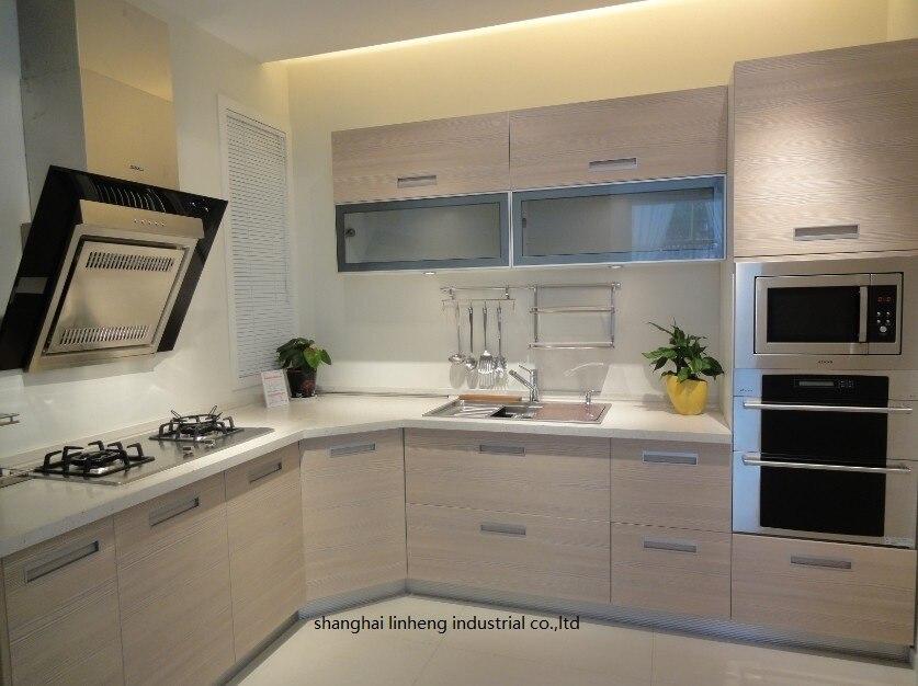 Melamine/mfc Kitchen Cabinets(LH-ME044)