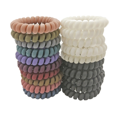 Lots 5 Pcs Size 5.5cm Gum For Hair Accessories Ring Rope Hairband Elastic Bands Women Telephone Wire Scrunchy