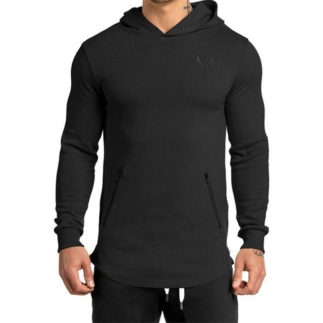 Long-sleeved Hooded Outdoor Men's tight-fitting sports 3