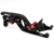 Negro corto tamaño cnc freno palancas de embrague para honda cb600f hornet 2007 2008 2009 2010 2011 2012 2013