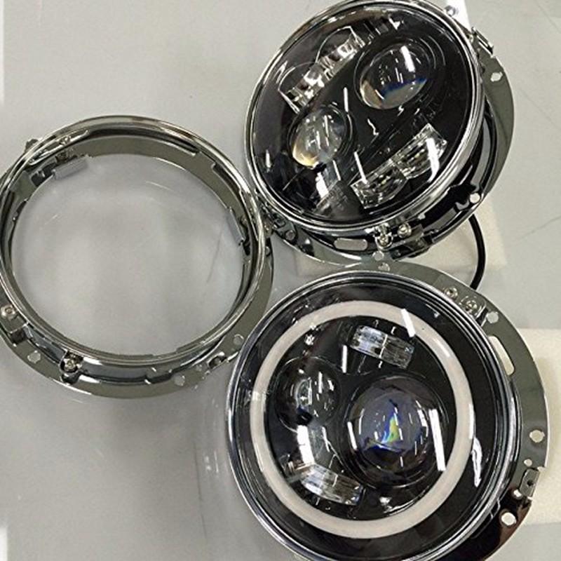 Black 7 Inch Headlight Ring Mounting Bracket Headllamp Mount For  Motocycle Wrangler