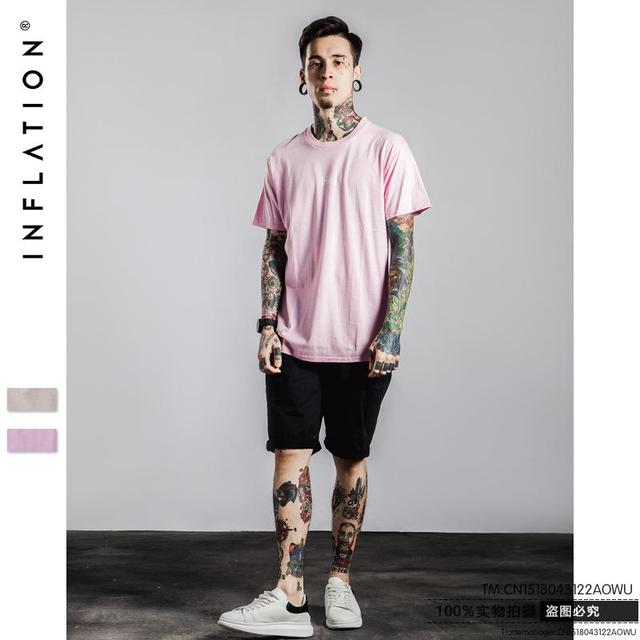 Pink T Shirt Men 2016 Summer Hip Hop Letter Printed Japanese Men's ...