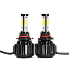 DIC Canbus LED H4 Hi/Lo 20000LM/pair 4-Side COB Headlight H13 H11 H7 9005 9004 9006 HB4 9007 9012 HIR2 5202 Beam Car Light 6000K