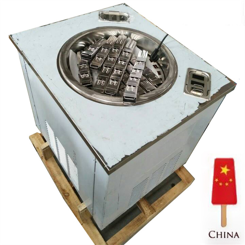 Round rotating plate type ice cream popsicle machine / ice lolly machine / popsicle maker