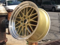 18 GOLDEN FACE MACHINED LIPPED RIMS WHEELS FITS GOLF GTI W882