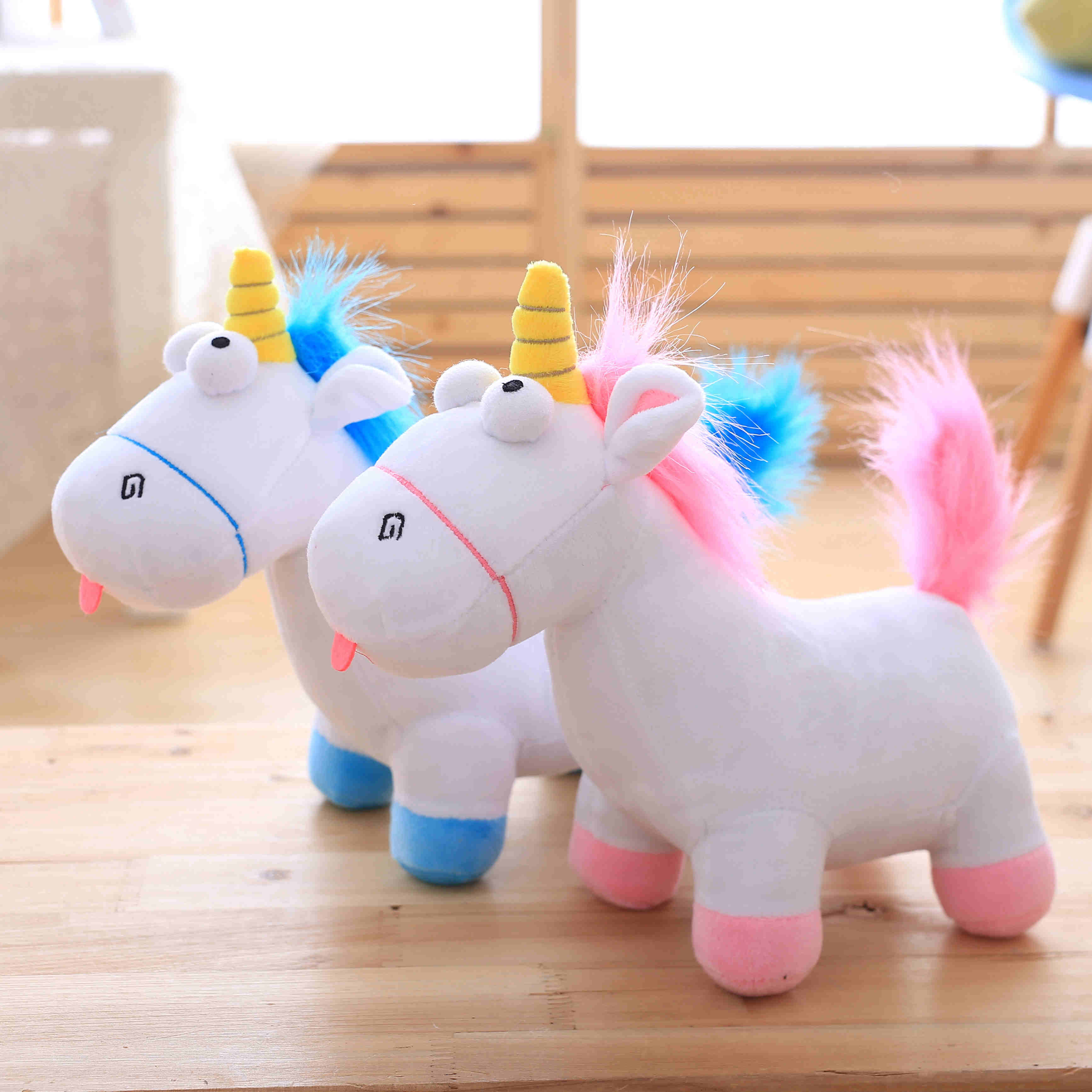 35cm Lovely Plush Unicorn Horse Dolls Stuffed Unicorn Plush Toys Gift for Kids Home Decor Cartoon Horse Toys 40cm new lovely mickey mouse and minnie mouse plush toys stuffed cartoon figure dolls kids christmas birthday gift