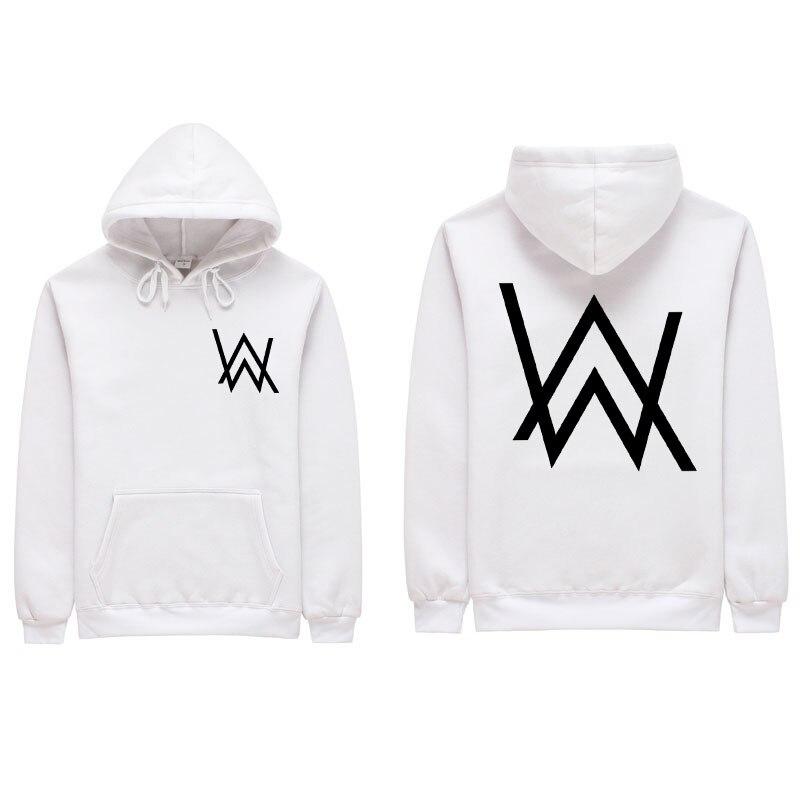 2018 Hommes Sweat-Shirts Musique DJ Comédie Alan Walker Hip Hop À Capuche Noir Veste Hommes Vêtements De Mode À Capuchon Hombre S-2XL