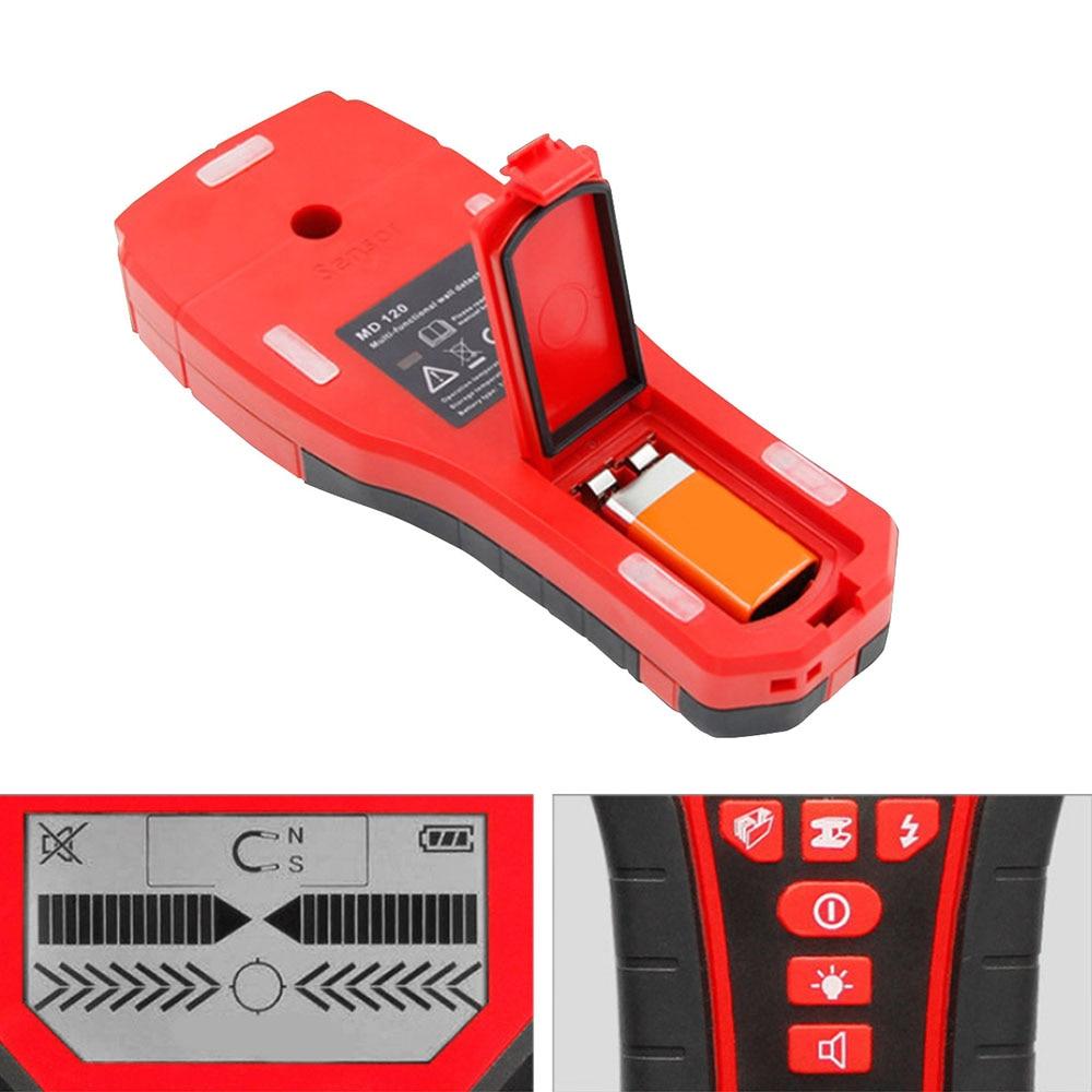 Détecteur de métaux multifonctionnel détecteur de mur numérique souterrain Pinpointer métal goujons en bois détecteur de câble AC Scanner de fil en direct